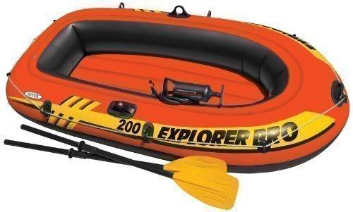 Intex Explorer Pro 200 Inflatable Boat Pump and Oar Set