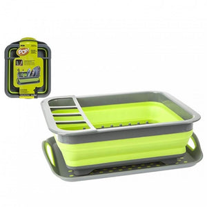 Summit Pop Space Saving Dish Drainer Green