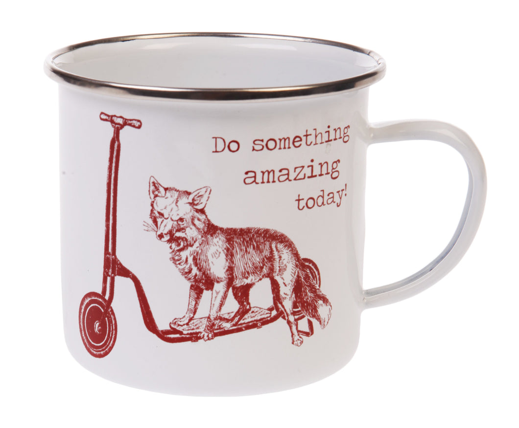 Sass and Belle Enamel Do Something Amazing Today Fox Mug
