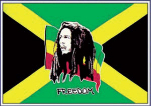 Bob Marley and Jamaica Flag 5ft by 3ft, windsocks