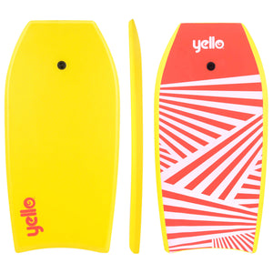 "Yello 41"" Slick Zig Zag Bodyboard (Yellow)"