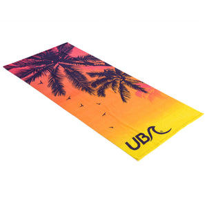 Urban Beach Sunset Microfibre Beach Towel