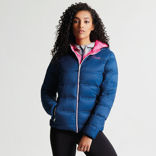 Dare 2b Women's Low Down Insulated Jacket Blue Wing Luminous Pink