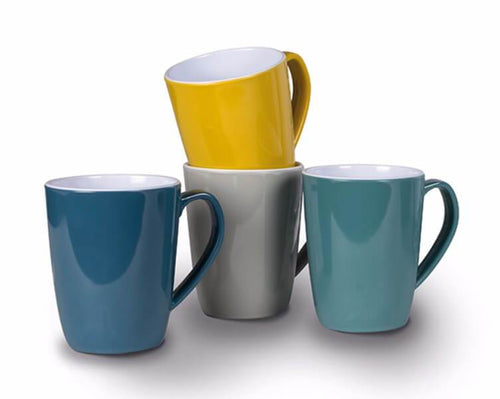 Kampa Heritage Mug Set of 4 - Mixed Colours