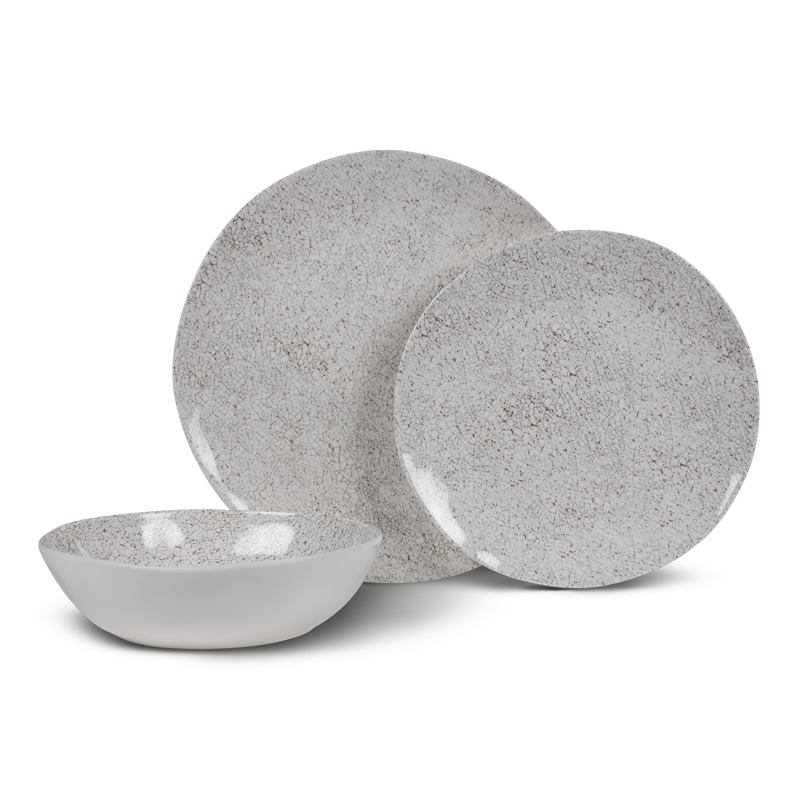 Kampa Natural Stone 12 Piece Melamine Dinner Set