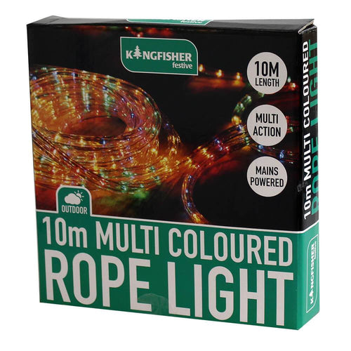 10m Multi Coloured Rope Light