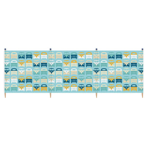 VW Yello 4 Pole Windbreak (Blue)