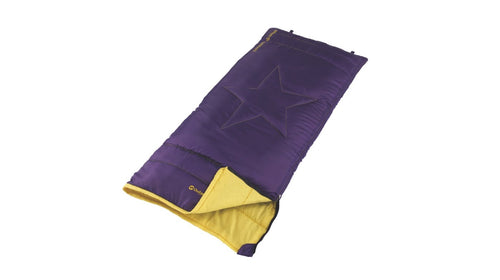 Outwell Cave Kids Purple Sleeping Bag