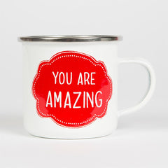 Sass and Belle Enamel You Are Amazing Mug