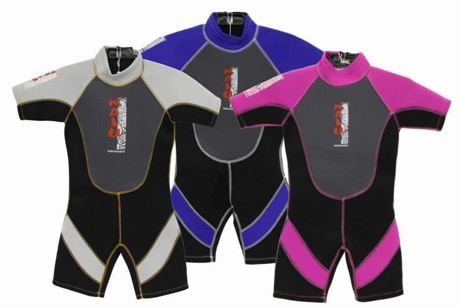 Nalu Childrens Shorty wetsuits Blue