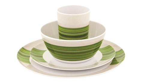 Outwell Blossom melamine Picnic Set Green 2 or 4 Person Set
