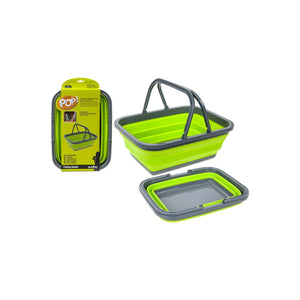 Summit Pop Folding Basket Green