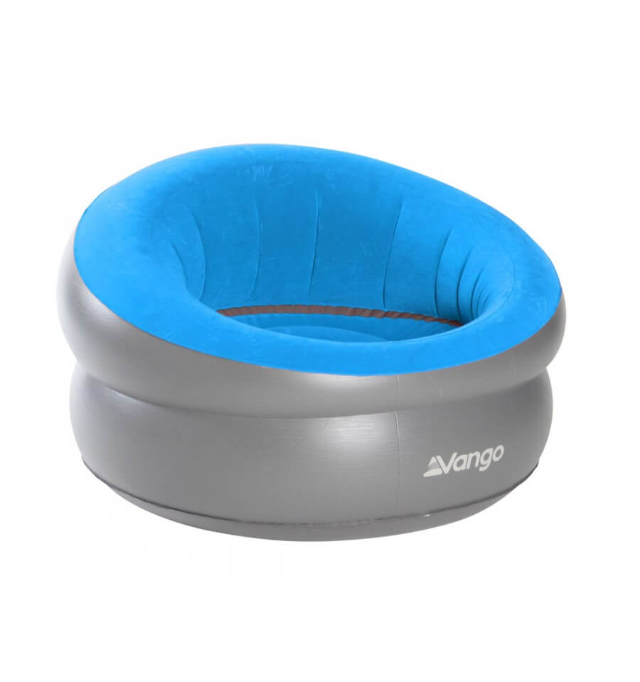 Vango Inflatable Donut Flocked Chair blue