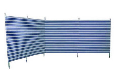Blue Diamond 7 Pole Navy Stripe Traditional Windbreak