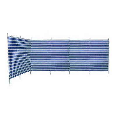 Blue Diamond Traditional 5 Pole Navy Stripe Windbreak