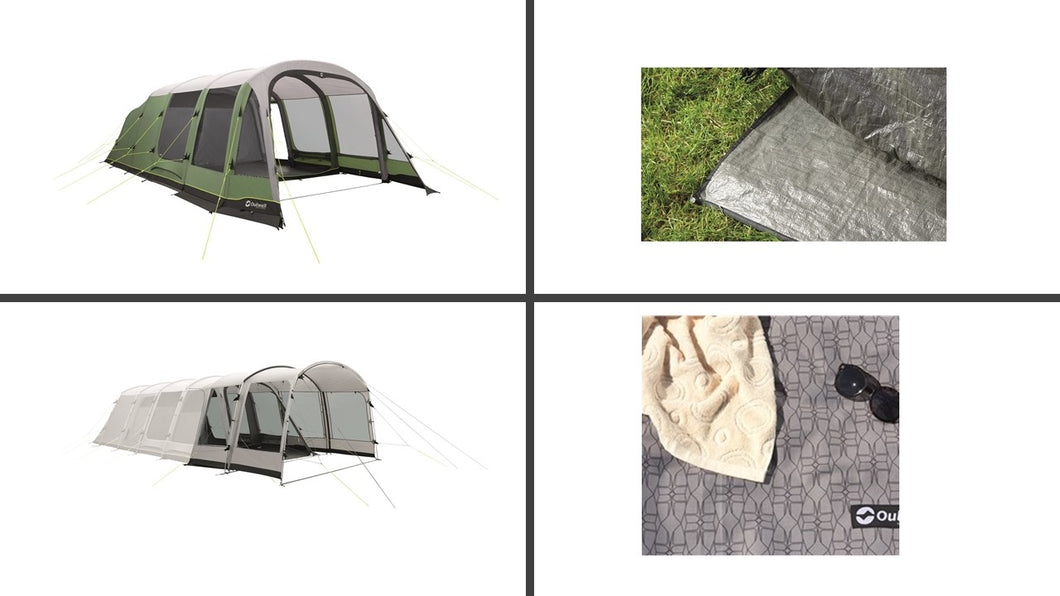 Outwell Woodburg 7A Air Tent Package and Extension (2019)