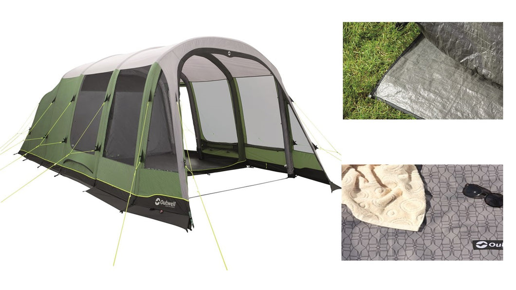 Outwell Woodburg 7A Air Tent Package (2019)