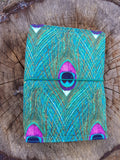 A5 NicDori Travellers Notebook - Large Peacock Feather Design