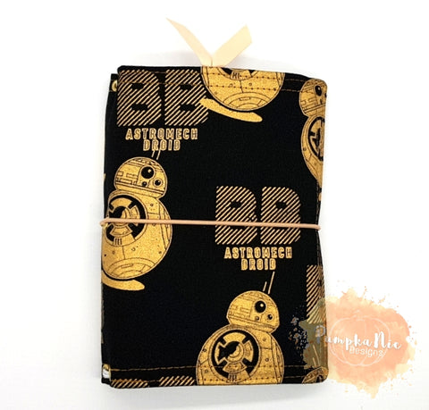 A6 NicDori Traveller's Notebook Starter Pack - Black & Gold BB8