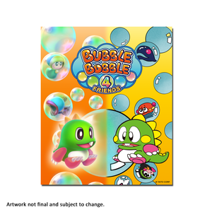 Bubble Bobble 4 Friends (Art Card) - aluminium plate
