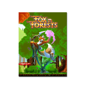 Fox N Forests (Art Card) - aluminium plate