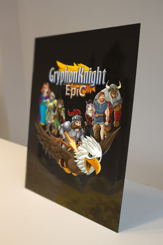 Gryphon Knight Epic - Art Card (aluminium plate)