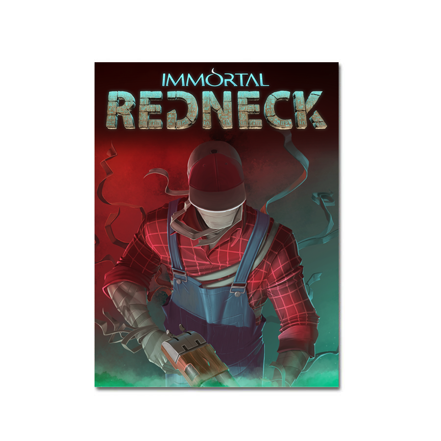 Immortal Redneck (Art Card) - aluminium plate