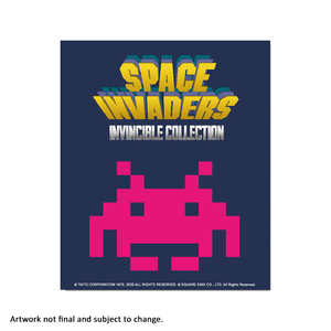 Space Invaders Invincible (Modern) - aluminium plate