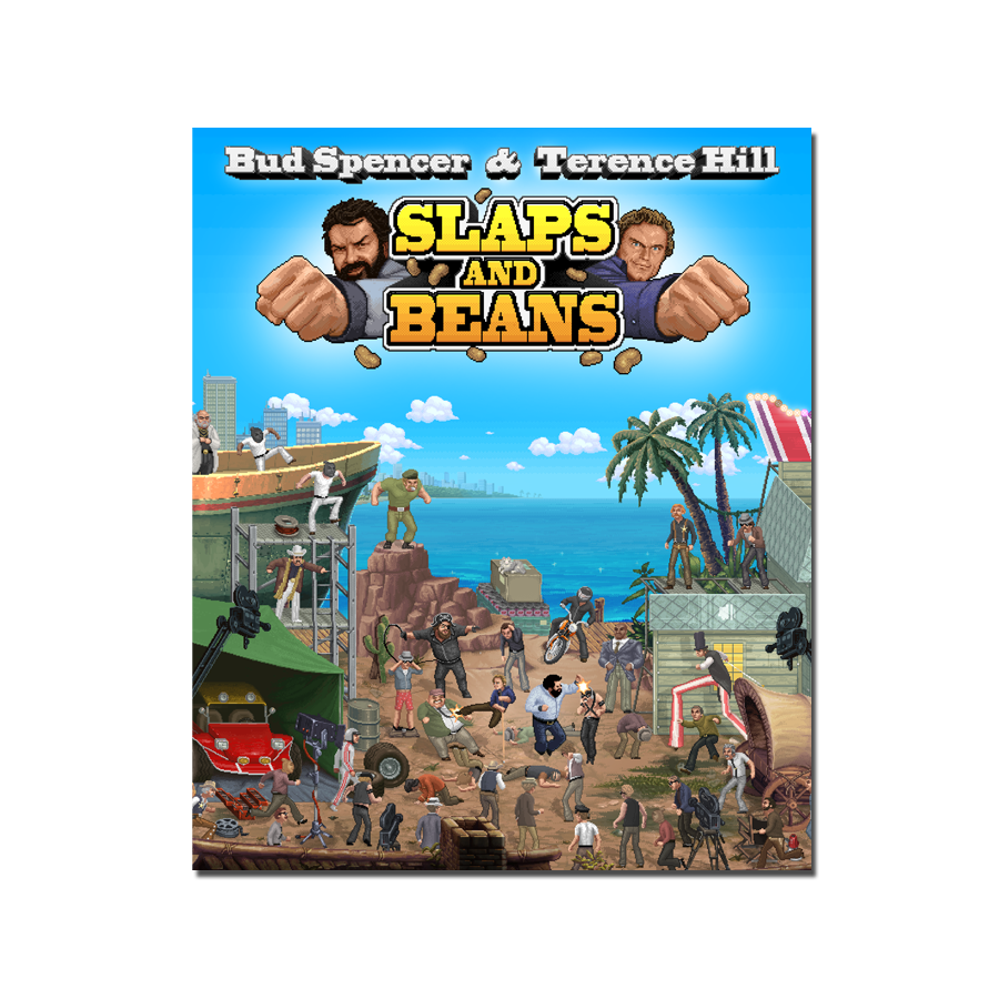 Bud Spencer & Terence Hill: Slaps and Beans (Art Card) - aluminium plate