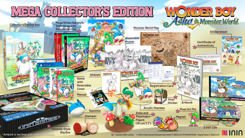 Wonder Boy: Asha in Monster World Mega Collector's Edition (PS4) - Preorder