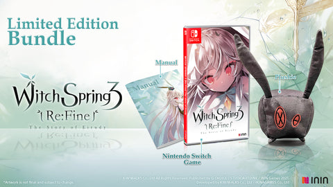 WitchSpring3 Re:fine - The Story of Eirudy Plushie Bundle (NSW) - Preorder