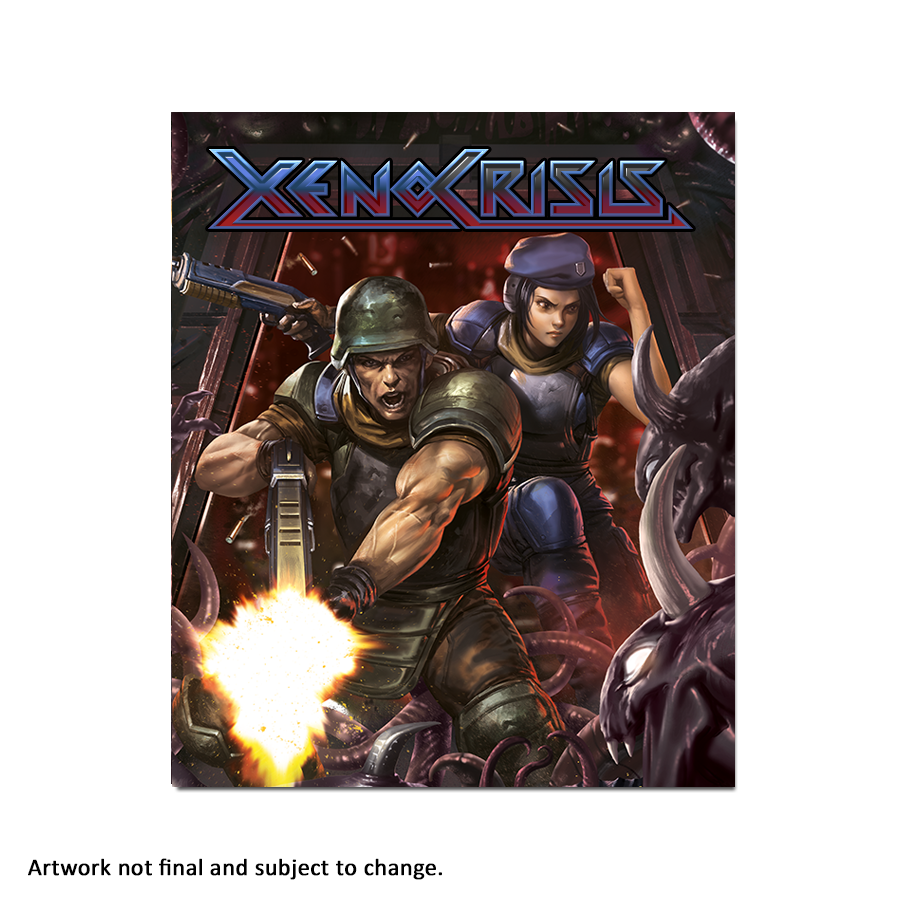 Xeno Crisis Red (Art Card) - aluminium plate