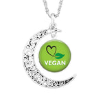 Stunning Vegan Moon Pendant Necklace