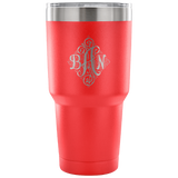 Monogram Custom order travel mug - Very nice tumbler laser etched letters