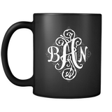 Monogram Custom Order 11 oz Black Mug