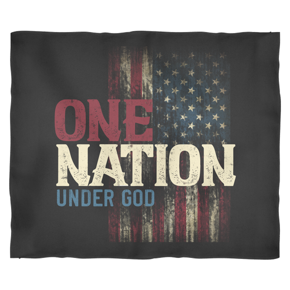 One Nation Under God - Velvety soft throw blanket