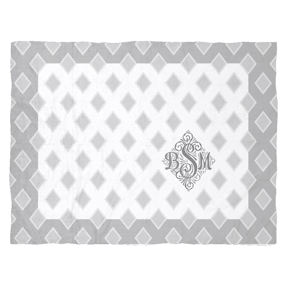 Custom Order Monogram Super Soft Blankets - For infants, baby