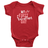 My First Valentine's Day Onesie - infant/ baby clothing