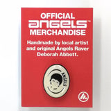 Official Angels lady pin badge