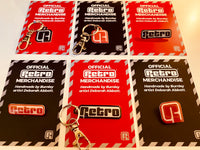 Retro official logo keyring