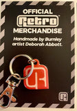 Retro 'R' official logo keyring