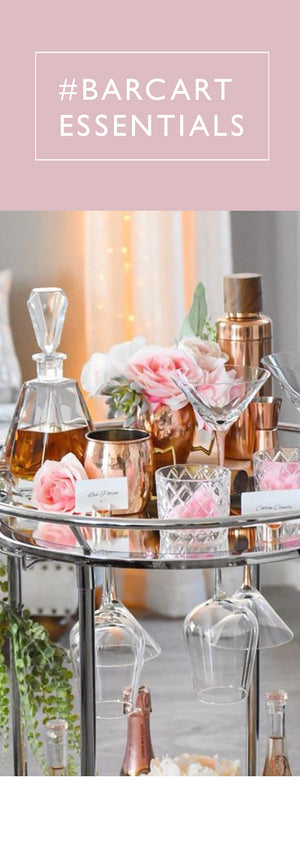 Bar Cart Glassware & Tableware
