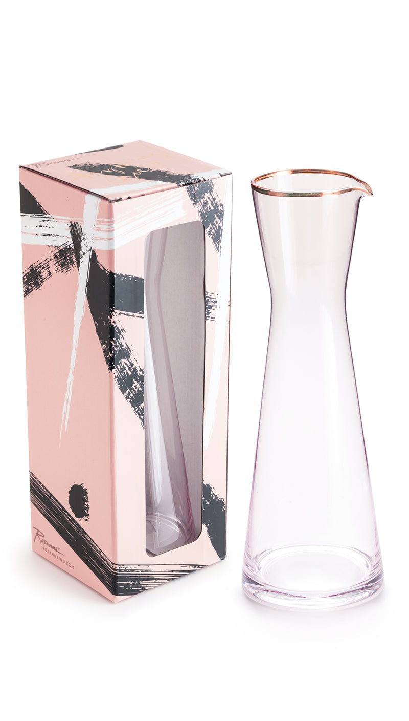 Anything Goes Pink Glass Pitcher