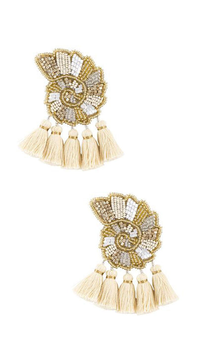 Aranci Shell Earrings - Olivia Dar