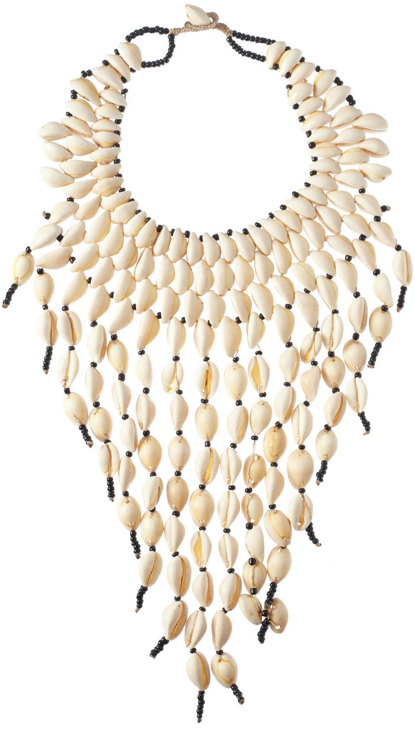 Cowrly Shell Statement Necklace