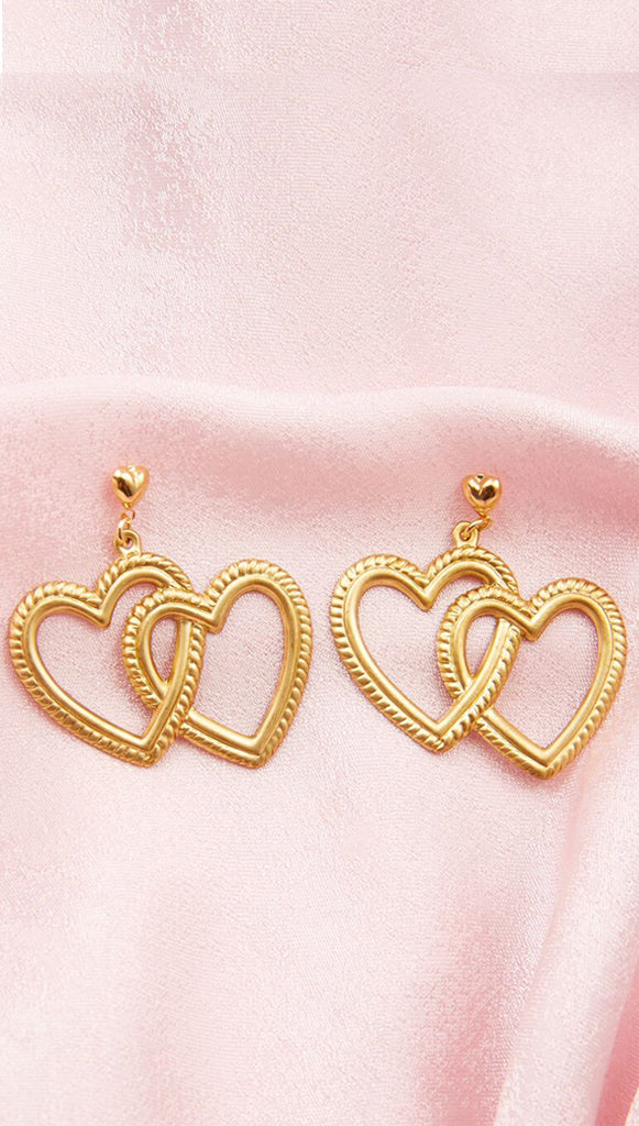 Fake Love Earrings Heart Earrings by Frasier Sterling