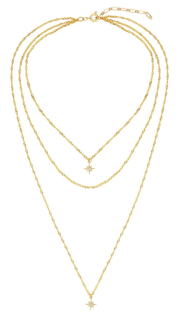 Five and Two York Yolanda Star Layer Necklace