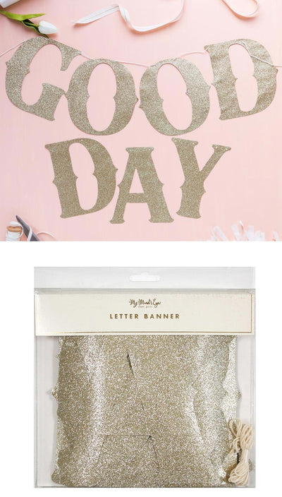 Gold Glitter Letter Banner | My Mind's Eye