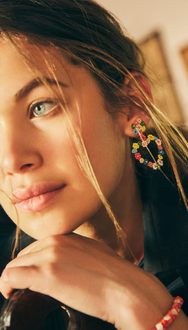 Brazilian Parrot Earrings | Olivia Dar