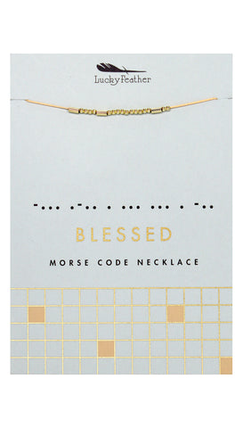 Morse Code FREE Necklace | Lucky Feather